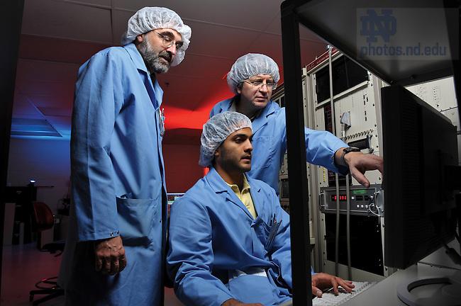 Graduate student Hubert George in an Engineering lab..Photo by Matt Cashore/University of Notre Dame