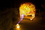 Echidna lantern during the Vivid 2016 Sydney Festival at Taronga Zoo, Sydney Australia.
