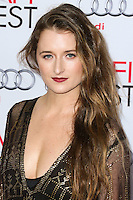 HOLLYWOOD, LOS ANGELES, CA, USA - NOVEMBER 11: Grace Gummer arrives at the AFI FEST 2014 - 'The Homesman' Gala Screening held at the Dolby Theatre on November 11, 2014 in Hollywood, Los Angeles, California, United States. (Photo by Xavier Collin/Celebrity Monitor)