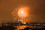 Washington DC; USA: July 4 Fireworks and icons, as seen from Arlington VA venue, Top of the Town.Photo copyright Lee Foster Photo # 16-washdc82887