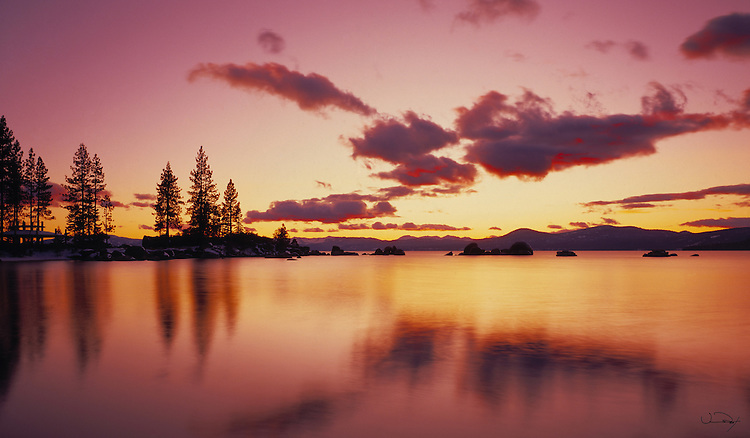 Lake Tahoe Scenic Sunset