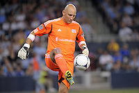 Matt Reis goalkeeper New England Revolution..Sporting Kansas City and New England Revolution played to a 0-0 tie at LIVESTRONG Sporting Park, Kansas City, KS.
