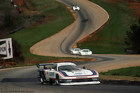 Bobby Rahal drives the Ford Mustang GTP  Turbo in the 1984 IMSA event at Road Atlanta near Gainesville, Georgia.