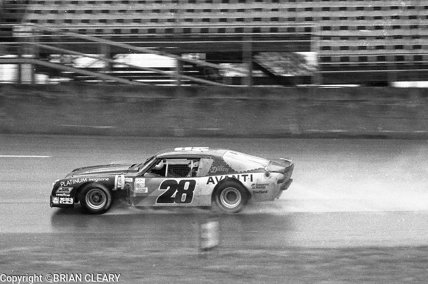#28 Avanti  of Herb Adams, John Martin, Joe Ruttman and Leonard Emanulson in the rain during 1983 24 Hours of Daytona , Daytona International Speedway, Daytona Beach, FL, February 1-2, 1983.  (Photo by Brian Cleary / www.bcpix.com)