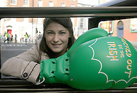 17/03/2011.Parade Grandmaster Katie Taylor.during the St. Patrick's Day festival in Dublin's City Centre..Photo: Gareth Chaney Collins