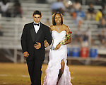 Senior maid Nikki McChristian (left) is escorted by Reed Davis during Lafayette High vs. Byhalia in homecoming football action in Oxford, Miss. on Friday, September 24, 2010.