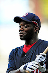 21 August 2009: Washington Nationals' outfielder Elijah Dukes warms up prior to a game against the Milwaukee Brewers at Nationals Park in Washington, DC. The Nationals fell to the Brewers 7-3, in the first game of their four-game series. Mandatory Credit: Ed Wolfstein Photo