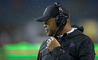 SEATTLE, WA - September 28, 2013: Stanford head coach David Shaw watches from the sideline during play against Washington State at CenturyLink Field. Stanford won 55-17