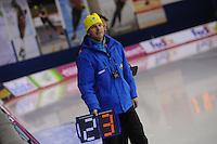 SCHAATSEN: CALGARY: Olympic Oval, 10-11-2013, Essent ISU World Cup, Sergey Klevchenya (trainer/coach KAZ), ©foto Martin de Jong