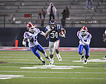 Ole Miss' Brandon Bolden (34) is chased by Louisiana Tech's Jay Dudley (45) in Oxford, Miss. on Saturday, November 12, 2011.