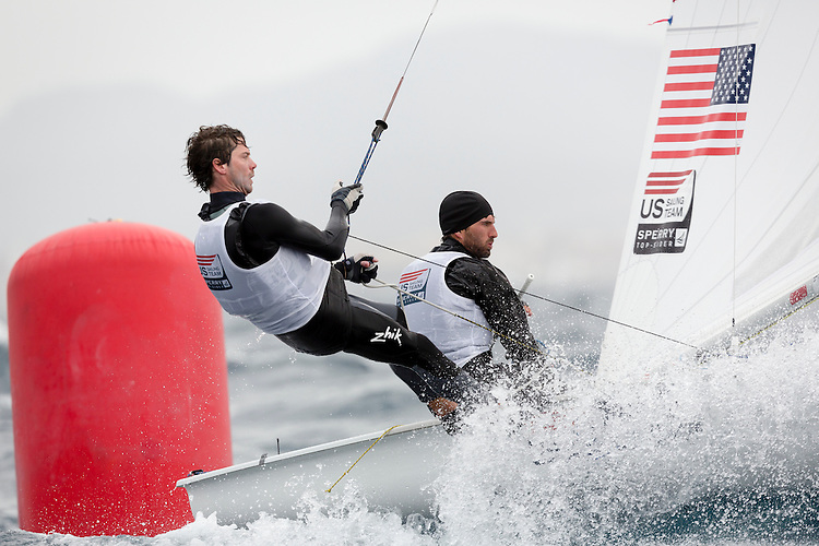 20140402, Palma de Mallorca, Spain: SOFIA TROPHY 2014 - 850 sailors from 50 countries compete at the ISAF Sailing World Cup event. 470 Men - USA1713 - Stu Mcnay / Dave Hughes. Photo: Mick Anderson/SAILINGPIX.