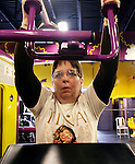 WATERBURY, CT 02 January 2008-010209SV03--Blanche Feero of Waterbury works out at Planet Fitness on Wolcott Street in Waterbury Friday.<br /> Steven Valenti Republican-American