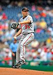 24 May 2009: Baltimore Orioles' starting pitcher Brad Bergesen on the mound during a game against the Washington Nationals at Nationals Park in Washington, DC. The Nationals rallied to defeat the Orioles 8-5 and salvage a win in their interleague series. Mandatory Credit: Ed Wolfstein Photo