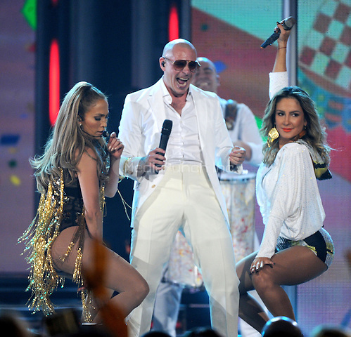 LAS VEGAS, NV - MAY 18: 5 Jennifer Lopez, Pitbull, and Claudia Leitte perform on the 2014 Billboard Music Awards at the MGM Grand Garden Arena on Sunday, May 18, 2014 in Las Vegas, Nevada.PGMicelotta/MediaPunch