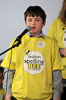 NO FEE PICTURES.8/3/12 Kevin O'Byrne, Belgrave Seniors BNS, taking part in the Dublin County final, part of the overall Eason 2012 Spelling Bee, held at St Olaf's NS, Dundrum. .For further details visit www.easons.com/spellingbee and stay tuned to RTE 2fm. Picture:Arthur Carron/Collins