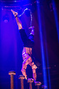 London, UK. 15.05.2015. LIMBO, a mix of cabaret, circus and acrobatics, opens at the London Wonderground at Southbank Centre. Picture shows: Danik Abishev. Photograph © Jane Hobson.