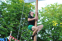 MASTKLIMMEN: AKKRUM: 06-07-2013, Winnaar Oane Galama, © Martin de Jong