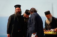 Greek Orthodox priests, Hydra, Greek Saronic Islands