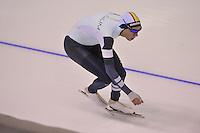 SPEEDSKATING: CALGARY: 15-11-2015, Olympic Oval, ISU World Cup, 1500m, Bart Swings (BEL), ©foto Martin de Jong