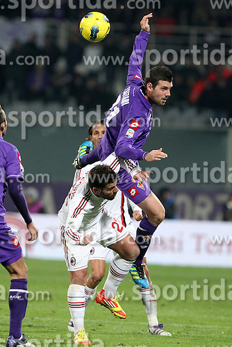 19.11.2011, Stadion Artemio Franchi, Florenz, ITA, Serie A, AC Florenz vs AC Mailand, 12. Spieltag, im Bild Andrea Lazzari Fiorentina Antonio Nocerino Milan // during the football match of Italian 'Serie A' league, 12th round, between AC Florenz and AC Mailand at Stadium Artemio Franchi, Florence, Italy on 19/11/2011. EXPA Pictures © 2011, PhotoCredit: EXPA/ Insidefoto/ Paolo Nucci..***** ATTENTION - for AUT, SLO, CRO, SRB, SUI and SWE only *****