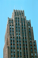Detroit:  David Stott Building 1929.  Donaldson & Meier. Upper facade. Photo '97.