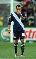 Landon Donovan of USA looks dejected