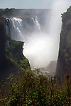 Africa, Zimbabwe, Victoria Falls. Victoria Falls, a UNESCO World Heritage Site.