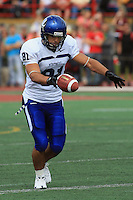 Universite de Montreal Carabins' Michael Shousha in CIS football action against the Rouge et Or at the universite Laval stadium in Quebec City, September 7, 2008. Laval won 17-6 before a crowd of 15,275.