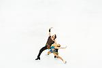 TAIPEI, TAIWAN - JANUARY 23:  Lynn Kriengkrairut and Logan Giulietti-Schmitt of USA perform their routine at the Ice Dance Free Dance event at the Ice Dance Free Dance event during the Four Continents Figure Skating Championships on January 23, 2014 in Taipei, Taiwan.  Photo by Victor Fraile / Power Sport Images *** Local Caption *** Lynn Kriengkrairut; Logan Giulietti-Schmitt