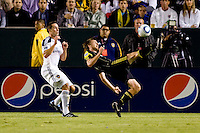 Columbus Crew midfielder Eddie Gaven does a bicycle kick. The LA Galaxy defeated the Columbus Crew 3-1 at Home Depot Center stadium in Carson, California on Saturday Sept 11, 2010.