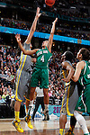 03 APR 2012:  Brittney Griner (42) of Baylor University attempts to block the shot of Skylar Diggins (4) of the University of Notre Dame during the Division I Women's Basketball Championship held at the Pepsi Center in Denver, CO.  Jamie Schwaberow/NCAA Photos