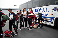 SAN JOSE, CA--2012 NCAA Women's Final Four departure from San Jose Airport.