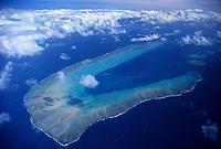 Aerial over the Great Barrier Reef, North Queensland, Australia