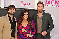 Lady Antebellum - Dave Haywood, Hillary Scott &amp; Charles Kelley at the Academy of Country Music Awards 2017 at the T-Mobile Arena, Las Vegas, NV, USA 02 April  2017<br /> Picture: Paul Smith/Featureflash/SilverHub 0208 004 5359 sales@silverhubmedia.com