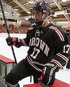 Zack Pryzbek (Brown - 17) - The visiting Brown University Bears defeated the Harvard University Crimson 2-0 on Saturday, February 22, 2014 at the Bright-Landry Hockey Center in Cambridge, Massachusetts.