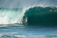 BANZAI PIPELINE, Oahu/Hawaii (Friday, December 9, 2011) CJ Hobgood (USA). – The Billabong Pipe Masters in Memory of Andy Irons ran for the second consecutive day with firing 10 foot (3-4 metre metre) waves. Today's proceedings commenced with Round 3 and completed Rounds 4 and 5 by day's end...The Final stop on the 2011 ASP World Title Series and the third Jewel of the Vans Triple Crown, the Billabong Pipe Masters plays a vital role in both qualification campaigns for the ASP Top 34 for 2012 while representing the deciding event for the prestigious Hawaiian trifecta title...John John Florence (haW) was the standout again today score a perfect 10 point ride in each of his heats and advancing to the quarter finals. Kelly Slater (USA), Joel Parkinson (AUS) and Gabriel Medina (BRA) also advanced tot eh quarter finals.  Photo: joliphotos.com