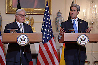Kerry and German Foreign Minister Frank-Walter Steinmeier