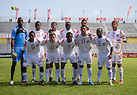 Panama lines up before the quarterfinals of the CONCACAF Men's Under 17 Championship at Catherine Hall Stadium in Montego Bay, Jamaica. Panama defeated Costa Rica, 1-0.