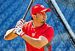 23 April 2010: Washington Nationals' catcher Wil Nieves takes batting practice prior to a game against the Los Angeles Dodgers at Nationals Park in Washington, DC. The Nationals defeated the Dodgers 5-1 in the first game of their 3-game series. Mandatory Credit: Ed Wolfstein Photo