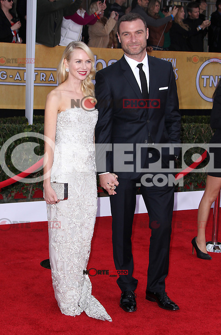 LOS ANGELES, CA - JANUARY 27: Naomi Watts and Liev Schreiber at The 19th Annual Screen Actors Guild Awards at the Los Angeles Shrine Exposition Center in Los Angeles, California. January 27, 2013. Credit: MediaPunch Inc.