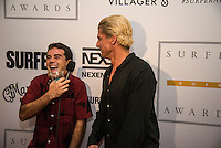 Turtle Bay Resort, North Shore, Oahu, Hawaii. (Tuesday December 6, 2016): Bruce Irons (HAW) and Mason Ho (HAW). The annual Surfer Poll Awards were held tonight at the Turtle Bay Resort with the new world champion John John Florence (HAW) taking out the #1 spot on the Men's Reader Poll and Carissa Moore (HAW) #1 on the women's poll. Photo: joliphotos