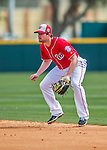 3 March 2016: Washington Nationals infielder Daniel Murphy in action during a Spring Training pre-season game against the New York Mets at Space Coast Stadium in Viera, Florida. The Nationals defeated the Mets 9-4 in Grapefruit League play. Mandatory Credit: Ed Wolfstein Photo *** RAW (NEF) Image File Available ***