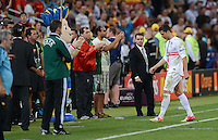 FUSSBALL  EUROPAMEISTERSCHAFT 2012   HALBFINALE Portugal - Spanien                  27.06.2012 Enttaeuschter Abgang: Cristiano Ronaldo (Portugal)