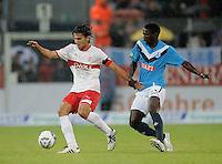 Fussball 1. Bundesliga 2011/2012  Testspiel   13.07.2011 Stuttgarter Kickers - VfB Stuttgart Serdar Tasci (VfB Stuttgart) gegen Omar Jatta (Kickers)
