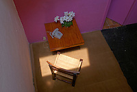 Telephone table in the Casa Luis Barragan house museum in Mexico City