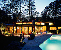 One of the first Modernist houses to be built in Atlanta, this property was designed by Jeffrey McConnell in 1951