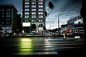 Warsaw 23.06.2009 Poland<br /> Warsaw at twilight. Swietokrzyska street and Jana Pawla street crossroads at night.<br /> Photo: Adam Lach / Napo Images<br /> <br /> Warszawa o zmierzchu.Skrzyzowanie ulic Swietokrzyskiej z Jana Pawla noca<br /> Fot: Adam Lach / Napo Images