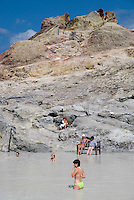 Vulcano, Eolian Islands, Italy, June 2006. After a trek up the volcano one can relax in the healing mudbaths. Be warned: the sulphur smell will stay with you for at least a week.The Volcanic Eolian Islands of Southern Italy offer a spectacular landscape for trekking while staying in picturesque towns. Photo by Frits Meyst/Adventure4ever.com