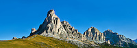 Nuvolau  mountain above the Giau Pass (Passo di Giau), Colle Santa Lucia, Dolomites, Belluno, Italy