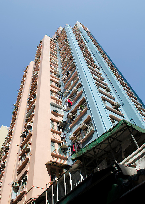 Hong Kong urban scene - highrise apartment complexes